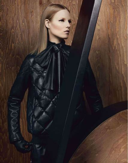 Description: Wrapping up means business this season, and mulberry's quilted bomber comes bow-tied