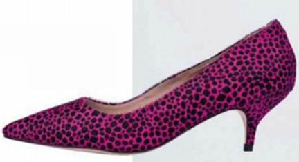 Description: Fuchsia heel, $150.