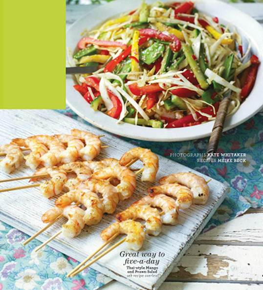 Description: Description: Great way to five-a-day Thai-style Mango and Prawn Salad