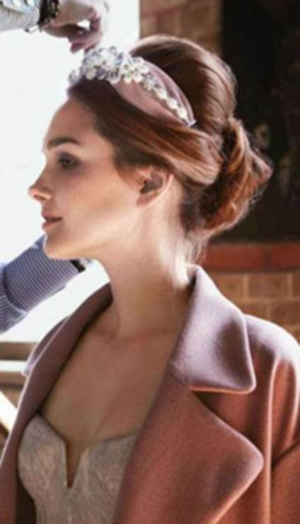 Description: Cristiano Basciu's adorned French chignon
