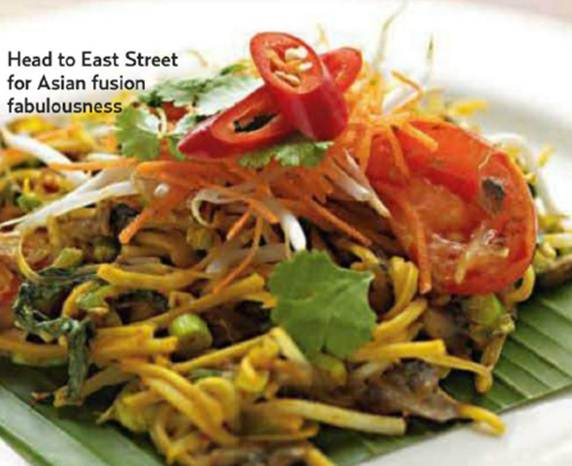 Description: Head to East Street for Asian fusion fabulouness