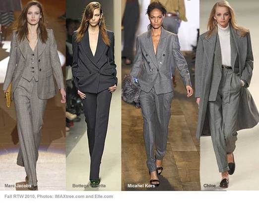 Description: Fall fashion trends 2010: trouser suits