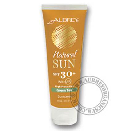 Description: Aubrey Natural Sun Green Tea SPF30
