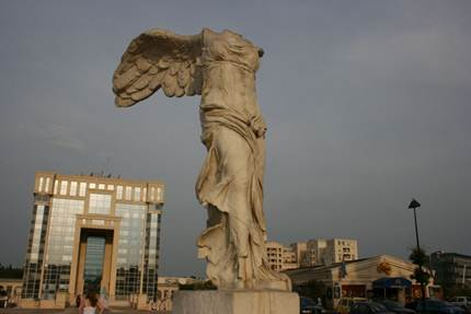 Description: Nike, known as the winged victory goddess