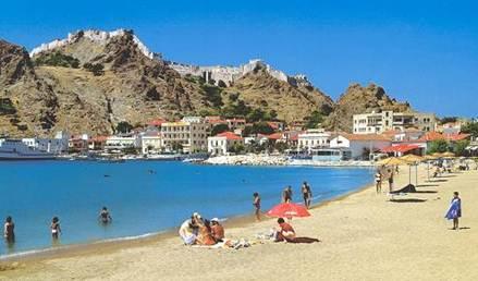 Description: Limnos, a beautiful harbor town