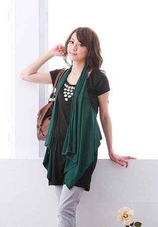 Description: Long blouse is great choice for women in the first days of pregnancy.