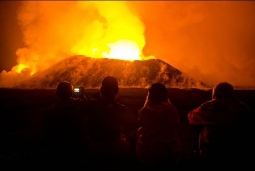 Description: Nyamulagira, one of the world's most active volcanoes