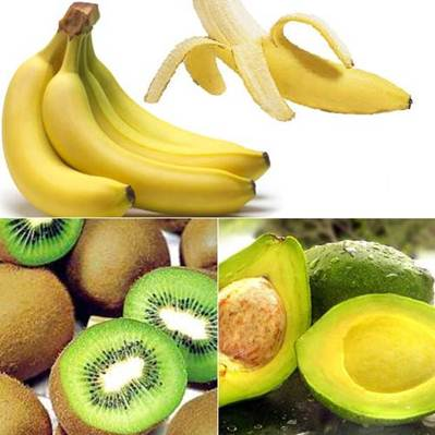 Description: Smoothie with blending of three fruits: avocado, banana and kiwi create a nutty and different taste.