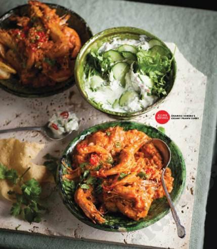 Description: Description: Anamika Somera's creamy prawn curry