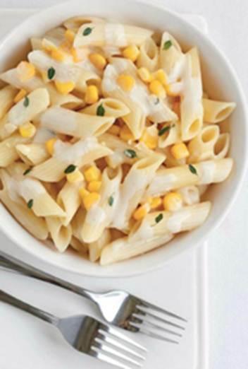 Description: Cream of corn and thyme pasta