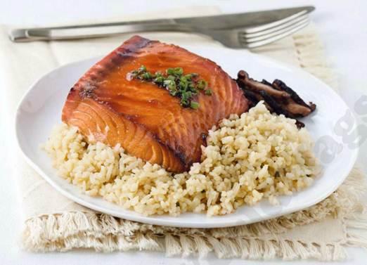 Description: Orange honey baked salmon