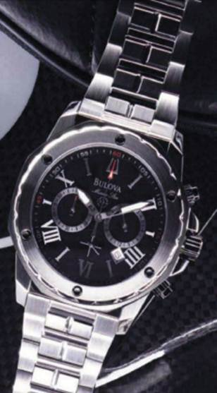 Description: 'Marine Star' stainless steel and rubber watch, $448.5