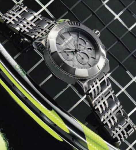 Description: 'Bridge Classic Chronograph' steel watch
