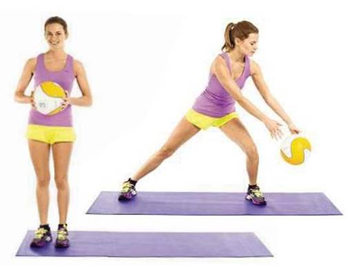 Side lunge with slam