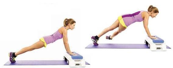Plank with leg crossover