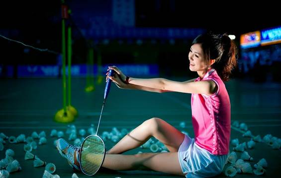 Training with a partner is a great way to stay motivated, so a social sport like badminton is ideal.