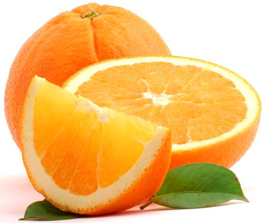 Orange is a wonderful source of vitamin C and potassium.