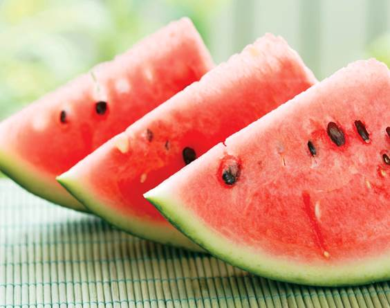 Watermelon contains 92% of water.