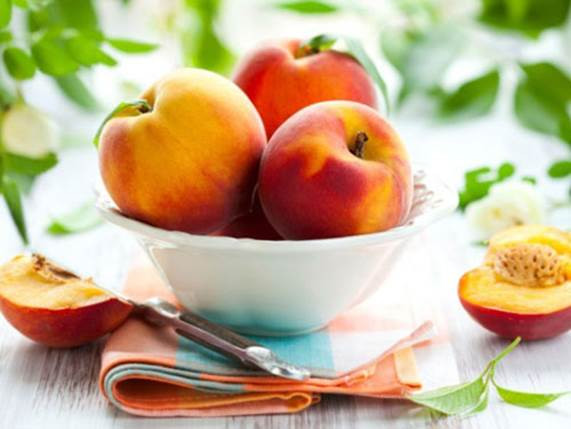 Peach is a good source of vitamin A and C.