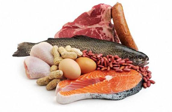 The amount of protein is mainly from foods such as meat, fish, shrimp, crab, egg…