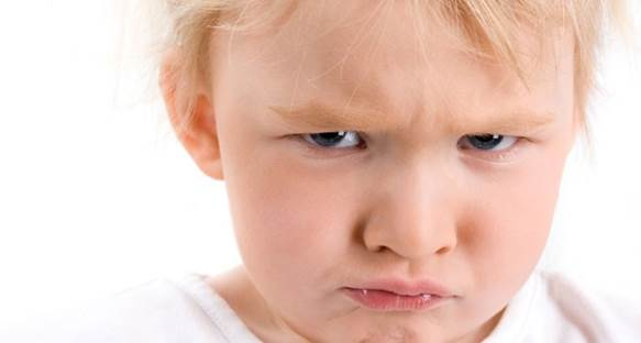 60%-80% children who are from 2 to three years old get angry at least once a week.