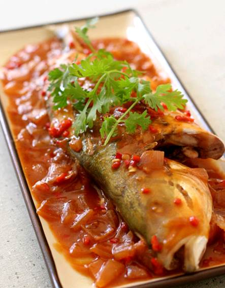 Eat 2 fish meals a week, 100gr fish each meal, especially fishes that have high levels of Omega-3 fatty acid
