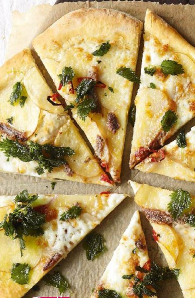 Potato & Anchovy Pizza