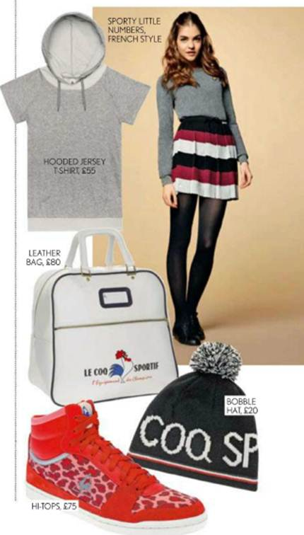 Description: Sporty little numbers, French style