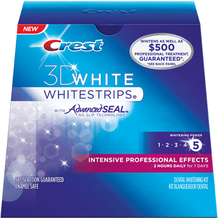 Description: Crest 3D White Intensive Professional Effects White Strips