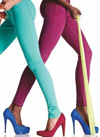 """Description: They don't call them """"skinny"""" jeans for nothing—the less flab you have around your lower half, the hotter you'll look in that curve-hugging denim."""