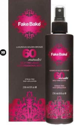 Description: Fake Bake's 60 Minutes Self-tan liquid