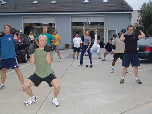 Description: Which Areas Of The Body Does The Clean, Lunge And Press Work?