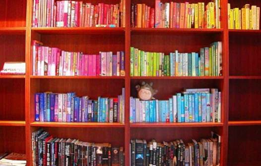 Description: It's much more interesting to look at a bookshelf that has some variation