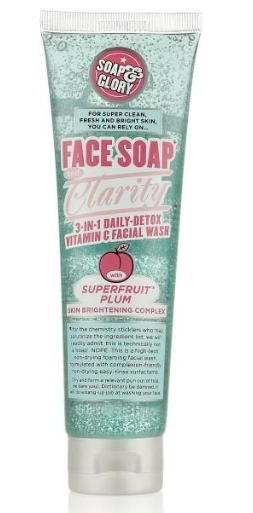 Description: Soap & Glory Face Soap and Clarity Facial Wash ($18)