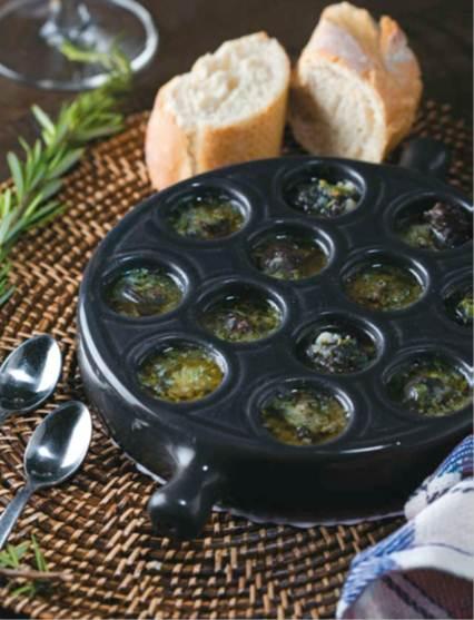 Description: Snails in garlic butter