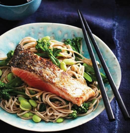 Description: Description: Miso Salmon Noddles