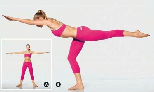 Description: Balance leg lift
