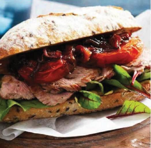 Description: Description: Slow-Roasted Tomato & Steak Rolls