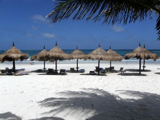 Description: Beach view at Tulum