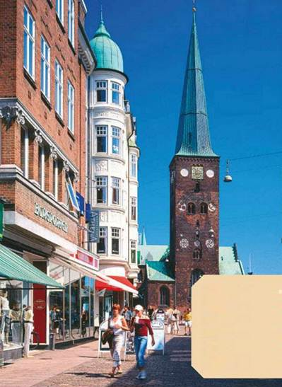 Description: Full of history: the city of Aarhus has a 13th-century cathedral
