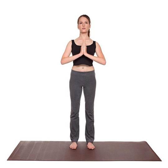 Description: Prayer pose