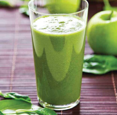 Glowing green juice