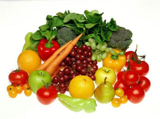 To limit the accumulation of fat in body, you should eat a lot of vegetables and fruits.