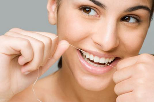 Floss will help you make spaces between teeth clean smoothly.