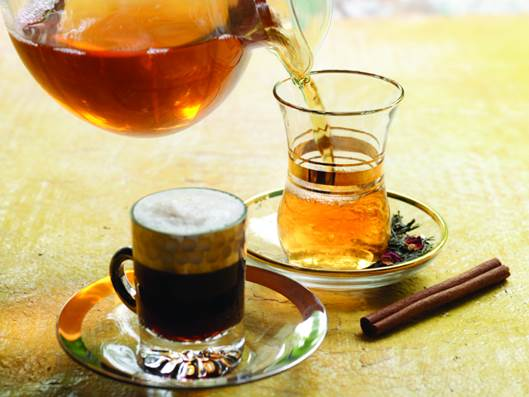 Drinking too much coffee and tea can lead to anemia resulted in lacking iron.