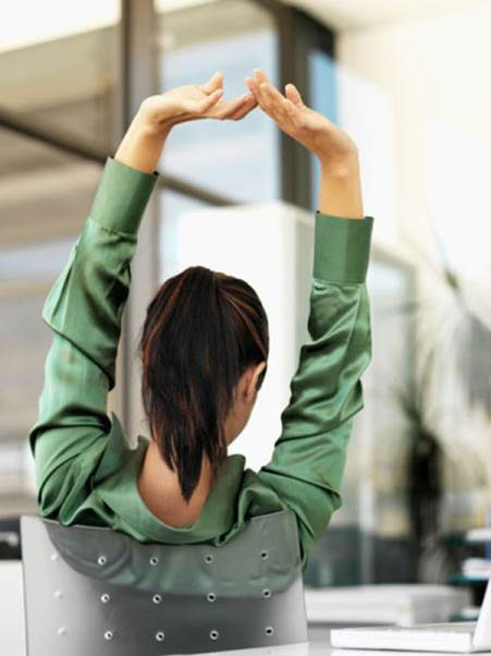 The simple arm-shoulder exercise will help you escape from stresses.
