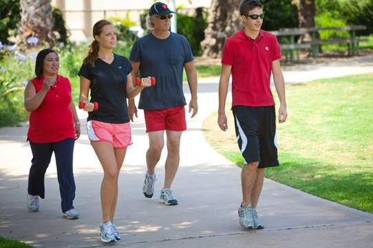 Walking is one of simple and interesting ways to maintain health and reduce weight.