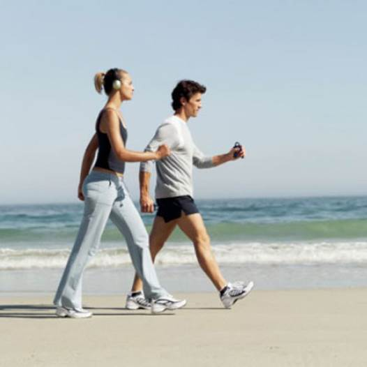 Walking helps you maintain a healthy weight. Walking 5.000 steps a day helps reduce the fat and the total weight.