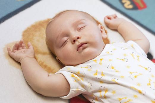 Supine position is good for children as their noses are upward and be able to avoid getting affected.