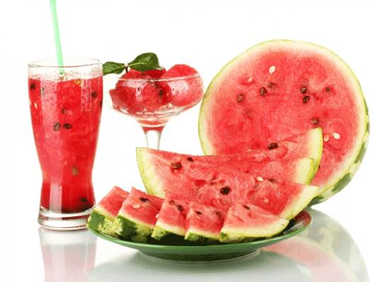 In water melons, there're lots of nutrients that can prevent cancers.